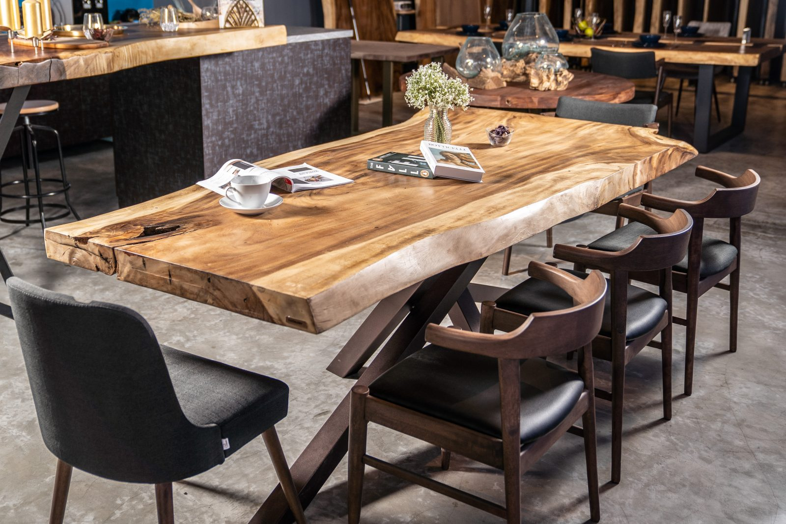 primero suar wood dining table by masons banner